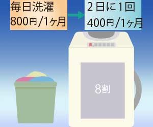 洗濯の頻度と水道代
