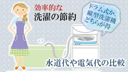 洗濯の節約で効率的なものは?水道代や電気代の比較!