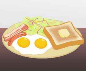 ワンプレートの朝食セット